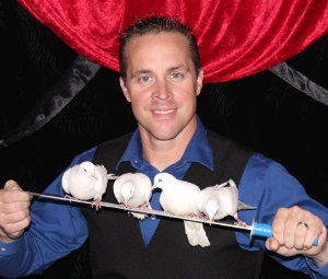 Robbie with Doves